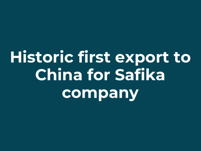 Historic first export to China for Safika company