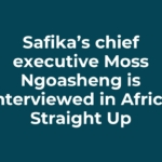 Safika's chief executive Moss Ngoasheng is interviewed in Africa Straight Up